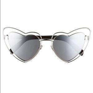 YSL heart shaped glasses